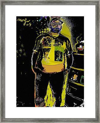 Stranger Framed Print by Noredin Morgan