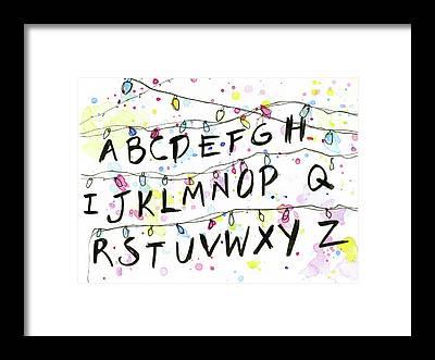 Alphabet Framed Prints