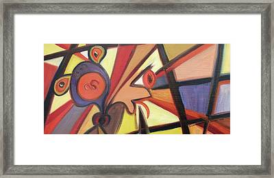 Strangling Framed Print by Suzanne  Marie Leclair