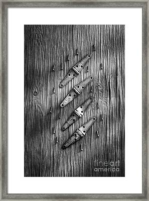 Strap Hinges And Screw Again Framed Print