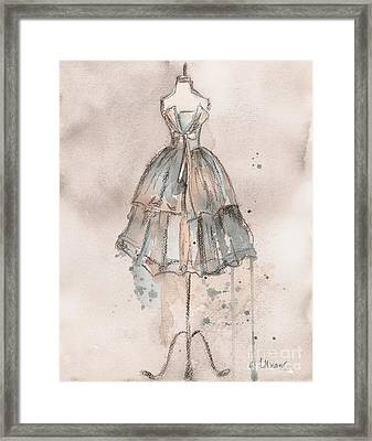 Strapless Champagne Dress Framed Print