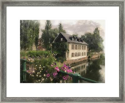 Strasbourg Bridge Framed Print