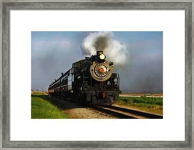 Strasburg Locomotive Framed Print by Lori Deiter
