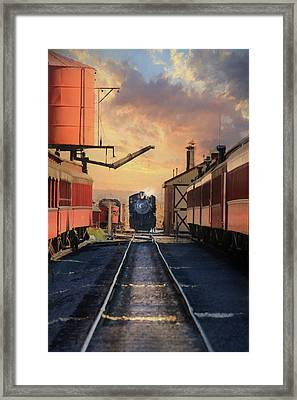 Framed Print featuring the photograph Strasburg Railroad Station by Lori Deiter