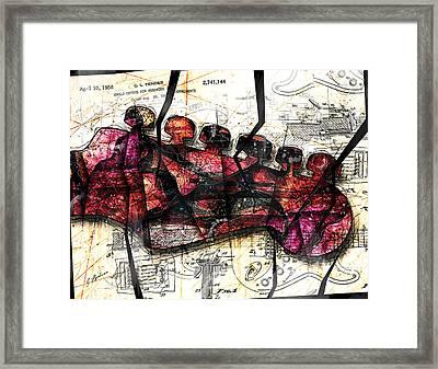 Strat Abstracta No. 6c  Framed Print