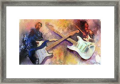 Strat Brothers Framed Print by Andrew King