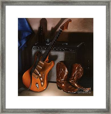 Strat Framed Print by Larry Preston