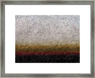 Strata Framed Print by Gordon Beck