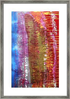 Framed Print featuring the painting Strata by Mordecai Colodner