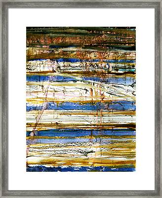 Strata Framed Print by Tom Hefko