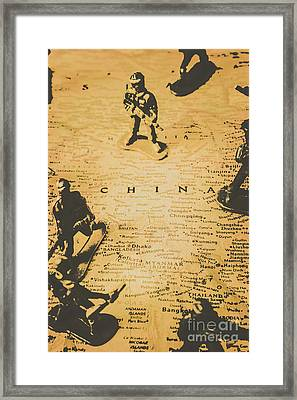 Strategy Of Wars Framed Print
