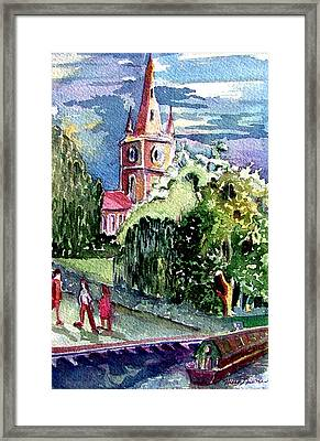 Stratford On Avon Saint Marys Framed Print by Mindy Newman