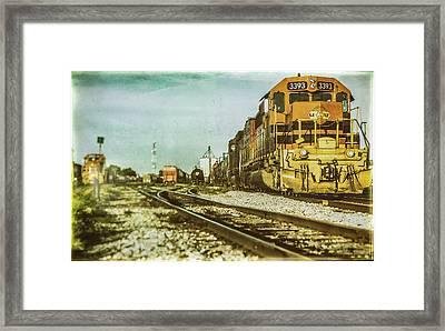 Stratford Rail Yard 2016 Framed Print