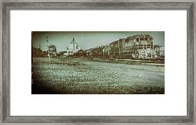Stratford Train Yard, 2016 Framed Print