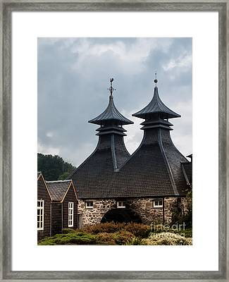 Framed Print featuring the photograph Strathisla Whisky Distillery Scotland #2 by Jan Bickerton