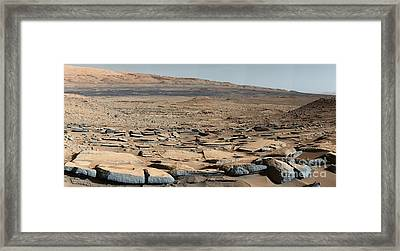 Stratified Rock On Mars Framed Print by Science Source