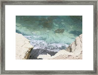 Stratigraphy Of Cyprus  Framed Print by Clay Cofer