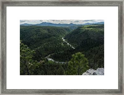 Stratobowl Overlook On Spring Creek Framed Print
