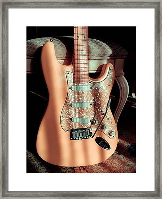 Stratocaster Plus In Shell Pink Framed Print
