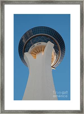 Stratosphere Tower Up Close Framed Print by Andy Smy