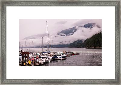 Stratus Clouds Over Horseshoe Bay Framed Print