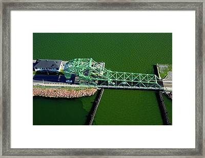 Strauss Trunnion Bascule Lift Bridge Framed Print