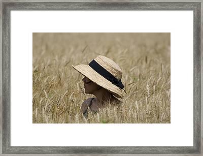 Straw Hat Framed Print