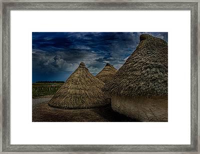 Straw Huts Framed Print