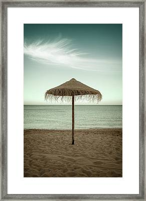 Framed Print featuring the photograph Straw Shader by Carlos Caetano