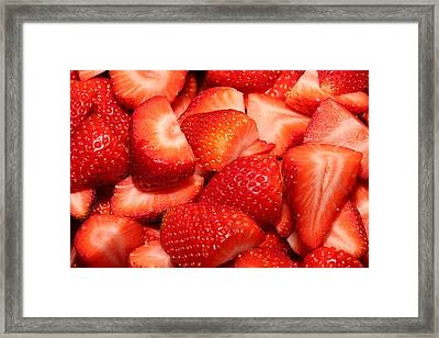 Strawberries 32 Framed Print