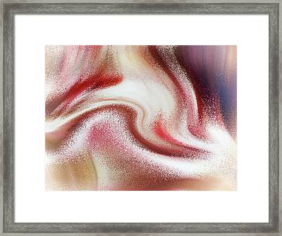 Strawberries And Cream Abstract Framed Print by Georgiana Romanovna