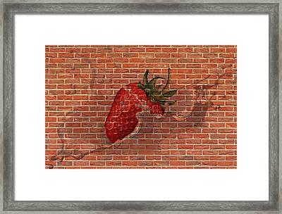 Strawberries And Cream Amazing Graffiti Framed Print