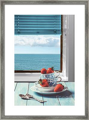 Strawberries By The Sea Framed Print