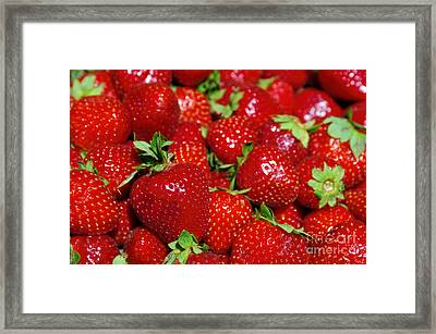 Strawberries Framed Print by Carlos Caetano