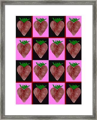Strawberries Design Framed Print