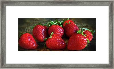 Strawberries Framed Print by Eileen Blair