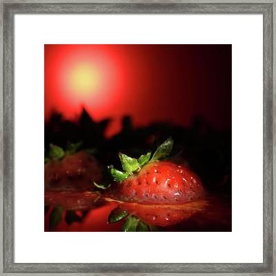 Strawberries In Motor Oil Framed Print