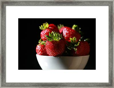 Strawberries  Framed Print by Michael Ledray