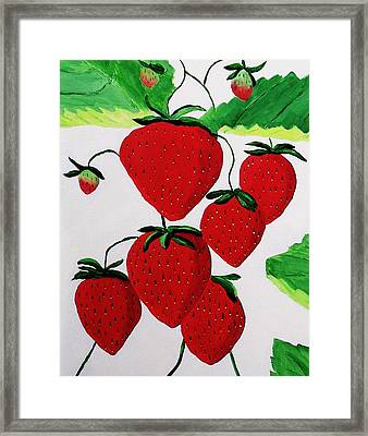 Framed Print featuring the painting Strawberries by Rodney Campbell