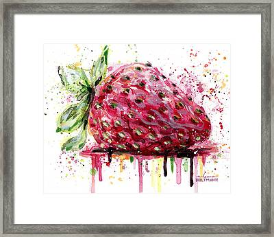 Strawberry 2 Framed Print by Arleana Holtzmann