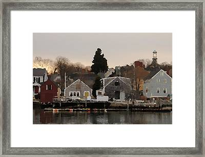 Strawberry Banke Framed Print by Mike Martin