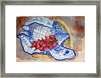 Framed Print featuring the painting Strawberry Basket by Pat Crowther