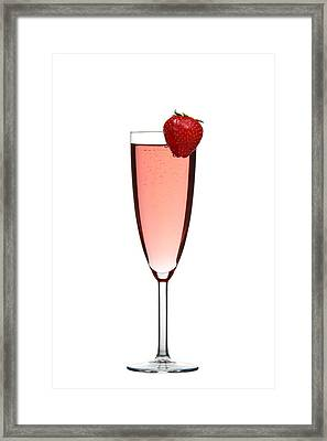 Strawberry Champagne Framed Print