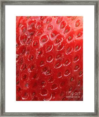 Strawberry Closeup Framed Print by Carol Groenen
