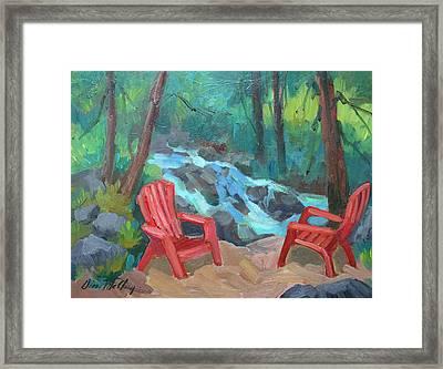 Strawberry Creek Idyllwild Framed Print