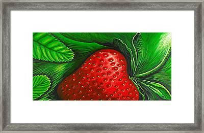 Strawberry Framed Print by David Junod