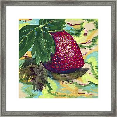 Strawberry Framed Print by Davis Elliott