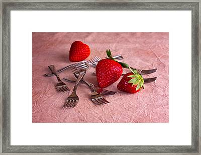Strawberry Delight Framed Print by Tom Mc Nemar