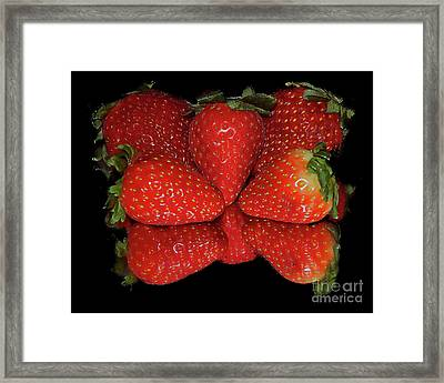 Framed Print featuring the photograph Strawberry by Elvira Ladocki
