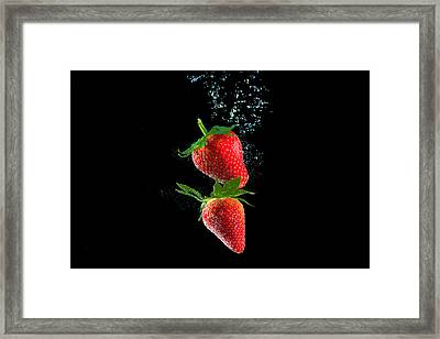 Strawberry Falls Framed Print